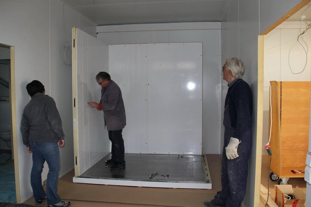 Montage der Kühlzelle