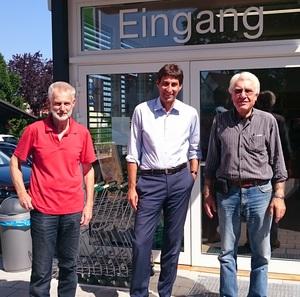 Am 12. Juni besuchte uns Herr Oberbürgermeister Klopfer im Dorfladen